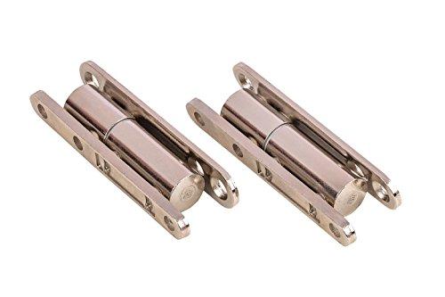 Gedotec Aufschraubbänder Zimmertür-Scharnier Renovierbänder zum Aufschrauben für Innentüren | Stahl vernickelt | Türscharnier mit wartungsfreier Gleitlagertechnik | 2 Stück - Türbänder zum Schrauben