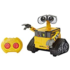 Kids can bring fan-favorite character Hello WALLE from Disney and Pixar's WALLE to life with this robot toy that features RC movement along with lights and sounds WALL E stands approximately 9.5 inches (24 cm) tall and features a true-to-movie design...