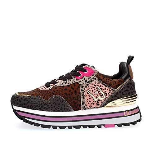 Liu Jo Shoes Womens LJWMX Sneaker, PINK/Sand, 39 EU