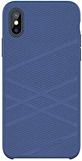 Nillkin Iphone X Flex Series Case Anti- Slip Silicone Rubber Case With Soft Microfiber Lining- Blue