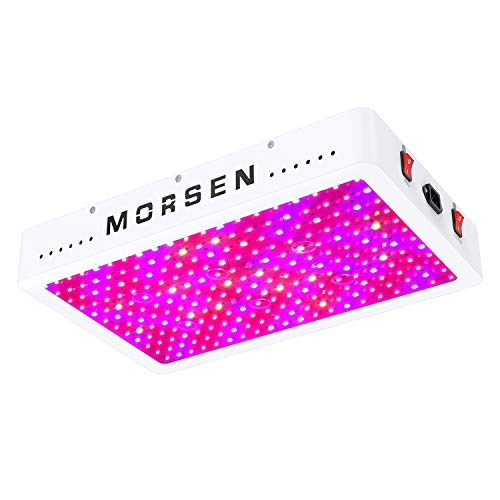 MORSEN 2400W LED Grow Light, Dual Switch & Dual Chips Full Spectrum LED Grow Lights Hydroponic Indoor Plants Veg and Flower(10W ledsx240pcs)