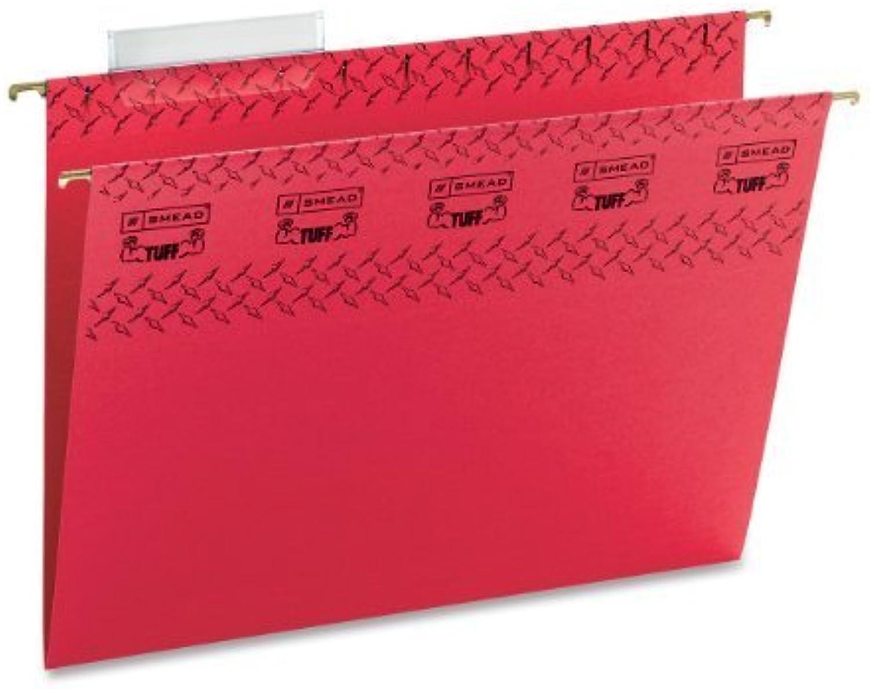 Smead TUFFHanging File File File Folder with Easy Slide(TM) Tab, 1 3-Cut Sliding Tab, Letter Größe, rot, 18 per Box (64043) by Smead B018REFW12 | Günstigen Preis  e11d8a