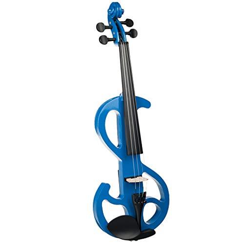 Homyl 1 Set 4/4 Electric/Silent Violin Blue Concert Gig Stage Performance...