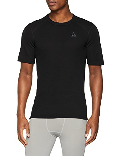 Odlo Herren Shirt Short Sleeve Crew Neck Warm, Black, XXXL, 152032