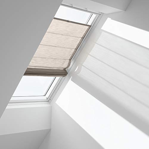 Orignal VELUX Raffrollo FHB M08 6517 / Bedienart : Manuell / Farbe : Struktur Cappuccino / Fenstergröße : M38 / Fenstertypen : GIU, GIL, GIV, GDL, VFE, VIU, VFA, VFB, GEL, VEA,VEB, VEC _11970
