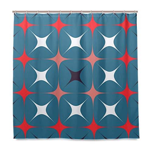 FAJRO Sparkling Stars Polyester Duschvorhang, maschinenwaschbar, Badezimmer-Duschvorhänge, antibakteriell für Duschkabine, Badewannen 183 x 183 cm
