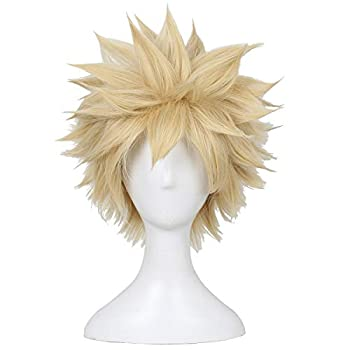 ColorGround Short Afro Fluffy Anime Cosplay Wig  Blonde