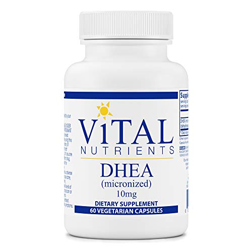 Vital Nutrients - DHEA (Micronized) - Supports Metabolism, Hormone Levels and Energy Levels - 60 Vegetarian Capsules per Bottle - 10 mg