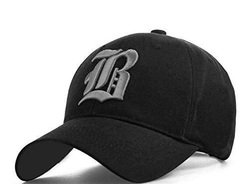 Gorra de béisbol ajustable, de algodón, con letra B...