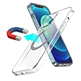 MagEasy Magnetic Case for iPhone 12 / iPhone 12 Pro 6.1 inch - MagClear, Clear Slim TPU Silicone, Support Magsafe Wireless Charging, Anti-Yellow, Shockproof Protection, Screen & Camera Cover - Silver