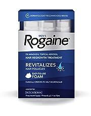 رغوة مينوكسديل بتركيز 5% من روغين للرجال لإعادة نمو الشعر وإيقاف تساقطه، علاج موضعي للشعر الخفيف، كمية تكفي لمدة 3 أشهر