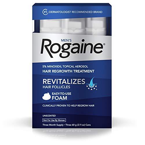 Men's Rogaine Foam-Rogaine Hair Regrowth Treatment, 6/2.11 oz. cans (6 Month Supply)