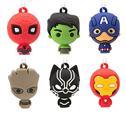 Hallmark Marvel Super Heroes Miniature Christmas Ornaments, Set of 6