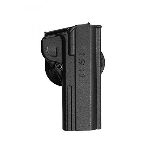 IMI Defense Negro una Pieza Paddle Holster para 1911.45ACP Pistolas de Gobierno (también Compatible con 9mm/.38Super & 10mm, Auto)