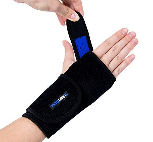 RiptGear Carpal Tunnel Wrist Brace Night Support - Adjustable Wrist Brace for Women and Men - Hand & Wrist Splint Compression Support for Tendonitis - Left Hand