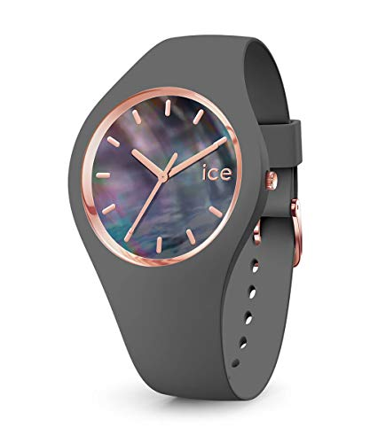 Ice-Watch - ICE pearl Grey - Graue Damenuhr mit Silikonarmband - 016937 (Small)