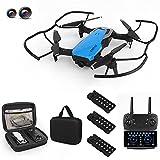 K98 Pro 2 Drone con cámara Dual 4K HD para Adultos / Adolescentes / niños, Quadcopter Plegable WiFi FPV, Drone RC Puede Volar Durante 45 Minutos con 3 baterías