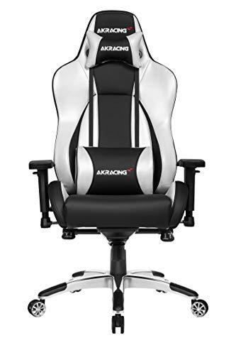 AKRACING Gaming Chair Gamingchair, PU-Kunstleder, Master Premium Silber/Schwarz, normal