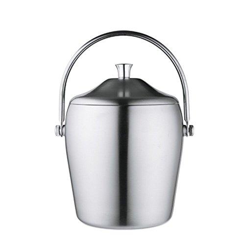 FTC Ice Bucket Secchiello per Ghiaccio in Acciaio Inox a Doppio Strato con Coperchio Secchiello per Ghiaccio Portatile con Secchiello Ghiaccio ghiacciato