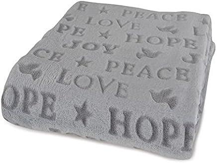 Berkshire Blanket Velvetloft Holiday Throw (Peace Joy Hope)