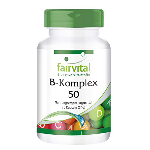 Vitamine B-Complex capsules 50 - HOOG GEDOSEERD - VEGAN - 90 capsules - vitamine B Complex met choline en inositol
