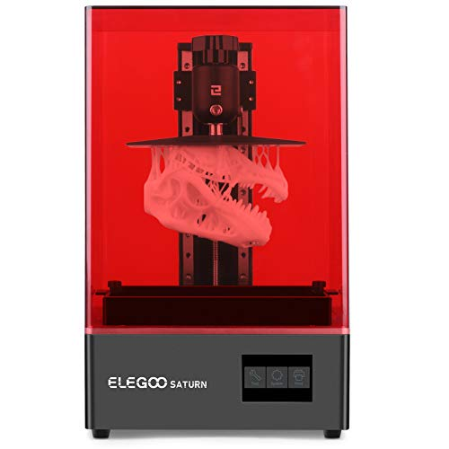 ELEGOO Stampante Saturn MSLA 3D Stampante LCD LCD 3D fotopolimerizzabile UV Saturn MSLA con LCD monocromatico 4K, matrice UV LED Light Source, Off-Line e LAN Print, dimensioni di stampa 192*120*200mm.