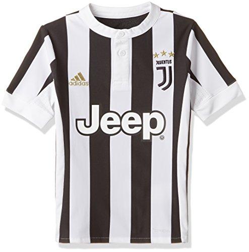 adidas Kinder Juventus Heimtrikot Juventus Turin Heimtrikot Replica, White/Black, 140, AZ8703