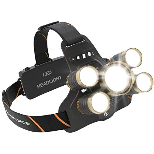 MsForce Ultimate LED Headlamp, Bright 1200 Lumens,8 work hours on high,zoomable, comfort. Rechargeable Batteries Included. USB Head Lamp Flashlight. Designed for Work, Camping, Outdoor & Hunting
