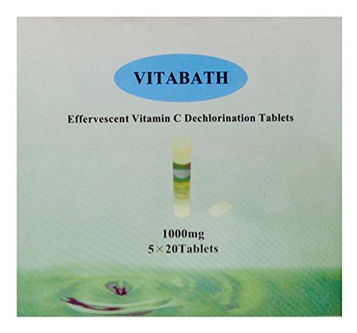 Vitabath Vita-c-bath Effervescent Vitamin C Dechlorination, 1000 mg, 100 Tablets