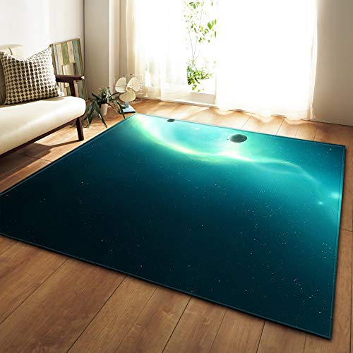 Oukeep 3D Realistic Starry Sky Pattern Carpet Thickened Non-Slip Waterproof Door Mat Suitable For Bathroom, Kitchen Carpet Is Easy To Take Care Of