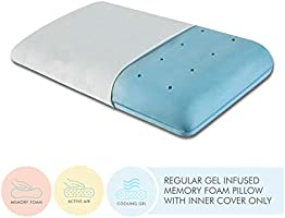 "The White Willow Orthopedic Memory Foam Cooling Gel King Size Neck & Back Support Sleeping Bed Pillow - (24"" L x 15"" W x..."