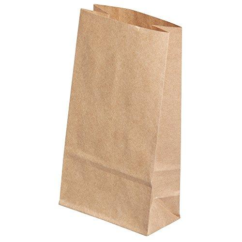 Rayher 68040000 Papier-/Geschenktüte, Lebensmittelecht, Adventskalender Kindergeburtstag, 9,5x5,5x16cm, braun