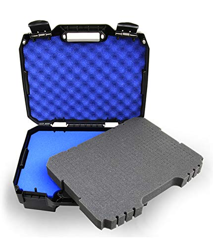 CASEMATIX Wireless Microphone Travel Case Fits Up to 12 Mics, Wireless Receivers and Transmitters for Shure, Akg, Audio-Technica, Sennhesier, Behringer, Dynamic Vocal Cardioid Mic Systems