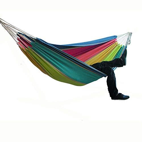 Tweepersoons Hangmat Camping Dikker Schommelstoel Buiten Hangbed Canvas Schommelstoel Niet met hangmatstandaard 200 * 150cm, D