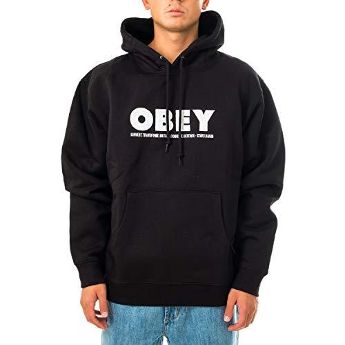 obey felpa OBEY Felpa Uomo HUBBS Hood Fleece 112470101.2001