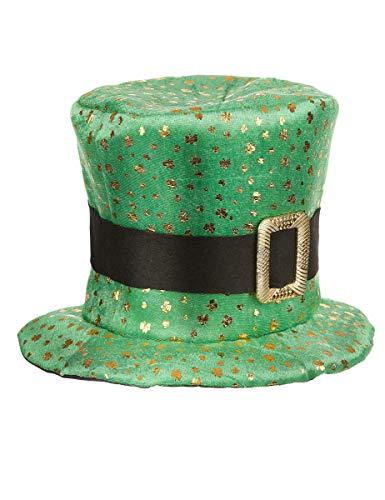 DEGUISE TOI - Chapeau Haut de Forme Saint Patrick trèfles dorés Adulte - Taille Unique