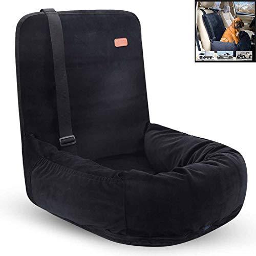 Rzj-njw Waschbare Dog Autokindersitz, Faltbarer Auto-Sitzkissen Hammock Hund Nest für Small Medium Hunde oder Katzen,Schwarz