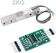 Load Cell 2KG Amplifier HX711 Breakout, Digital Portable Kitchen Scale Weight Sensor AD Module Weighing for Arduino Raspberry Pi, DIYmall