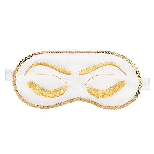 ArtiDeco Slaapmasker, dames, oogmasker, leuk slaapbril, leuke slaaping, beauty, patroon oogklep om te slapen, slaapmasker wit
