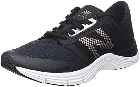 New Balance 715v3, Zapatillas Deportivas para Interior para Mujer, Negro, 41 EU Wide