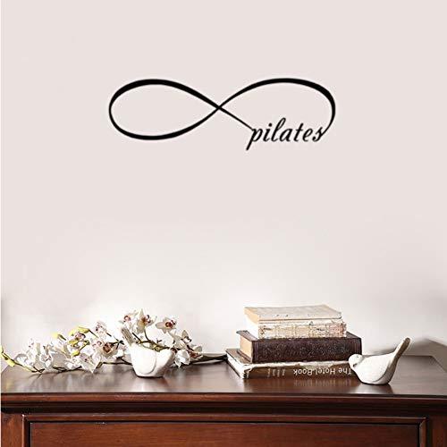 Etiqueta de la pared Cita de Pilates Letras Pegatinas de pared Decoración para el hogar Sala de estar Calcomanías de pared extraíbles de PVC Decoración del dormitorio de Bady