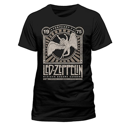 CID Herren Led Zeppelin-Madison Sq Garden T-Shirt, Schwarz, M