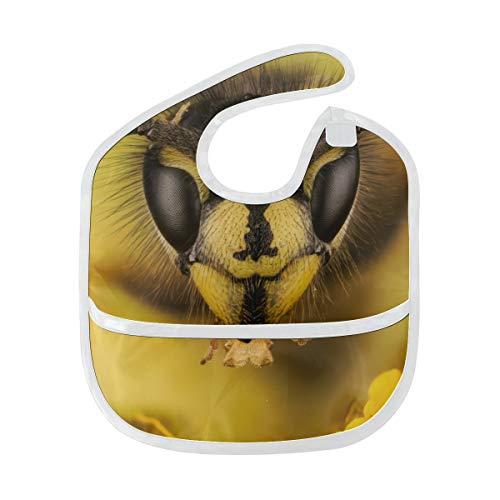Zemivs Baby Lätzchen Jungen Eine Europäische Wespe Benutzerdefinierte Weichen Fleck Baby Fütterung Dribbeln Sabbern Lätzchen Rülpsen Für Kleinkinder 6-24 Monate Eine Europäische Wespe