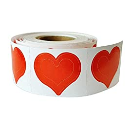 3 Way Heart Tanning Stickers 1000 CT Roll