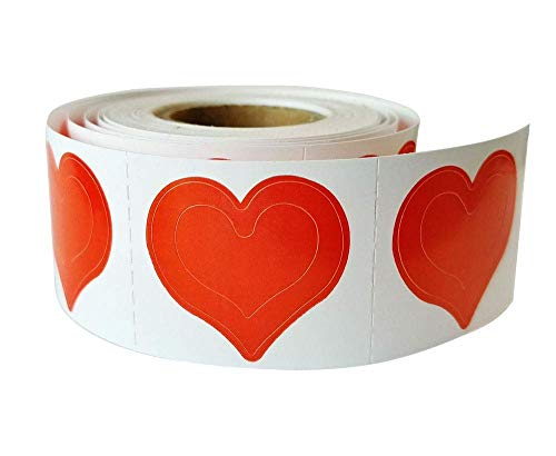 3 Way Heart Tanning Stickers 1000 CT Roll+ |