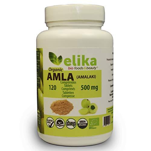 BIO Amla Elikafoods® BIOLOGICA. 120 compresse da 500mg. Rafforza i capelli e la pelle. Contiene...