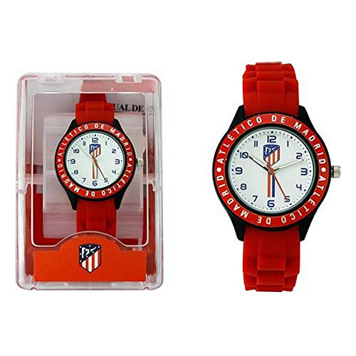 Atlético Madrid Reloj Analog-Digital para Unisex-Adult de Automatic con Correa en Cloth 8435041746716