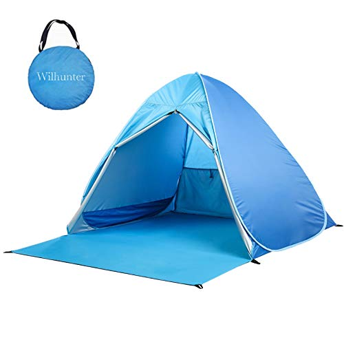 Pop Up Beach Tent Easy Portable Sun Shelter UV Protection Sport Umbrella Automatic Baby Canopy Shade Tents Cabana for Family with Carry Bag
