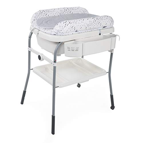 Chicco Cuddle&Bubble - Bañera cambiador compacta 2en1, 10 kg, color gris (Cool Grey)