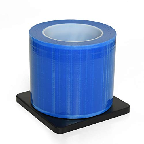 Gonioa Barrier Film,1200 Sheets 4'' x 6'' Barrier Film Roll with Dispenser Box,Disposable Protective PE Film Barrier Tape for Dental,Tattoo,Blue